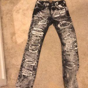 "PRPS ""demon fit"" distressed jeans"